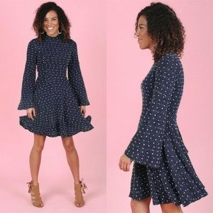 Altar'd State Chunky Fit & Flare Sweater Dress